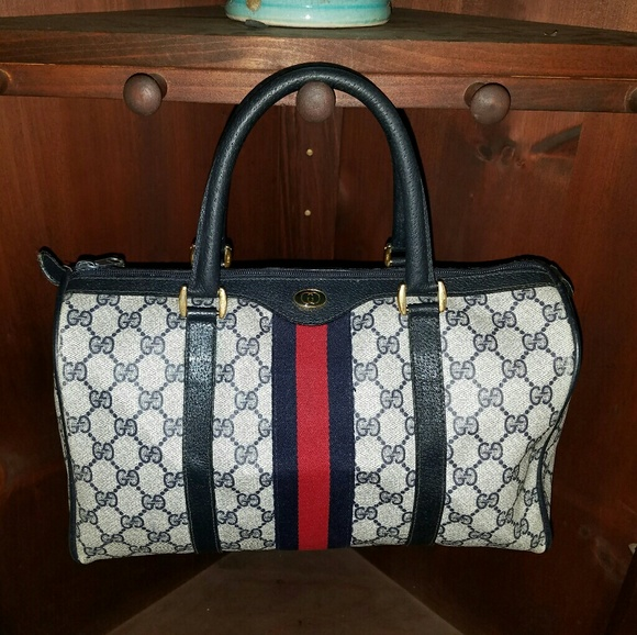 2902986bf33092 Gucci Bags | Vintage Boston Handbag Canvas Purse Doctors | Poshmark